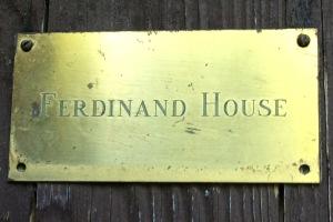 Ferdinand house plate