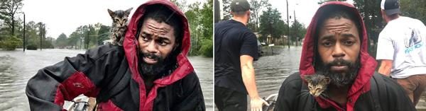 How a Photo of A Man Rescuing His Kitten During Hurricane Florence Taught Third Graders How to Write